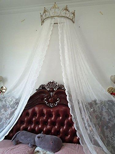 Prinzessin betthimmel,Europäische schmiedeeisen tagesdecke moskito vorhang vorhang dekorative krone netting gardinen-G