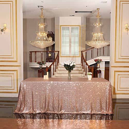 Eternal Beauty - Tovaglia Con Paillette, Ideale Per Matrimoni, Halloween, Natale, Feste E Banchetti, Oro Rosa, 152*305Cm