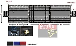 Mytee Products Vinyl Flatbed Tarp Heavy Duty 18oz 3 Pc Lumber Tarp (8' Drop) (Black)