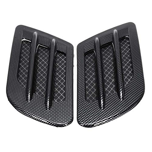Car Bonnet Cover Carbon Fiber Air Intake Flow Side Fender Vent Lepel van de Kap Sticker Car Decoratie hulpmiddelen QPLNTCQ