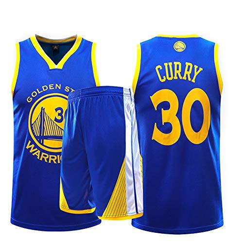 Fei Fei Uniforme Baloncesto Retro, 30 Curry # 35 Durant para Hombres, Fresco, Respirable, Equipo Deportivo, Uniforme, Camiseta sin Mangas + Pantalones Cortos,30#,L