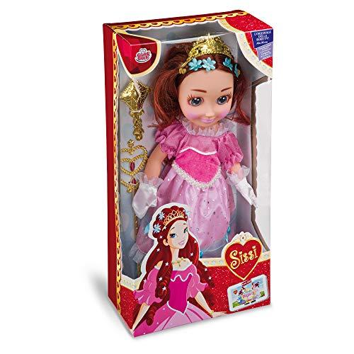 Grandi Giochi GG02204, Prinzessin Sissi Puppe, 35 cm, Rosa oder Hellblau