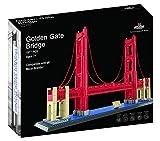 Golden Gate Bridge Building Block Set (1,977 Pieces) San Francisco's Golden Gate Bridge Famous Landmark Series Model for Kids and Adults