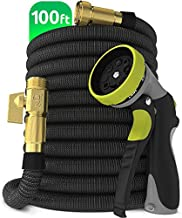 Nifty Grower 100ft Garden Hose - All New Expandable Water Hose with Double Latex Core, 3/4