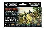 Vallejo- Farb-Set, Deutsche Waffen-SS, WWII Juego de construcción de maquetas. (070207)