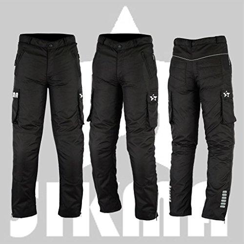 Sikma - Pantalones de motero de tejido cordura, impermeables, con refuerzos aprobados por la CE, para hombre