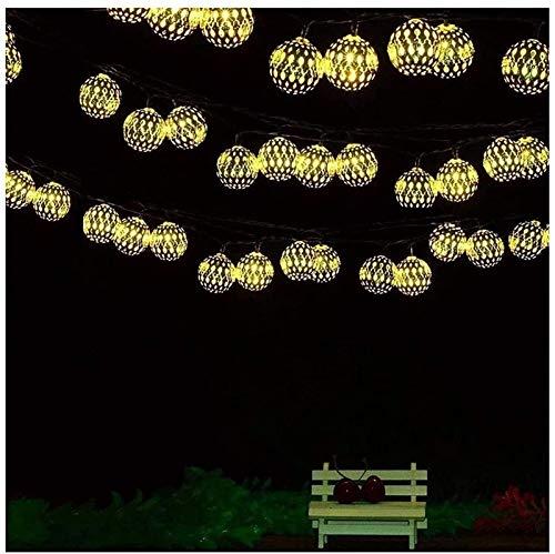 RTUTUR Light String Holiday Lights, Fairy Decorative Globe Lamp Strings Battery Powered Fairy Lights Geometry Rose GOL.