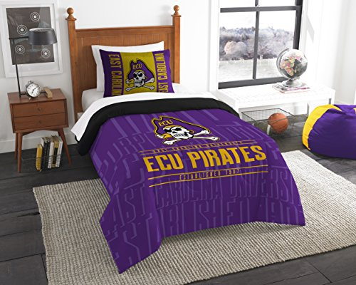 NCAA Northwest Modern Take Twin Comforter Set East Carolina Pirates - 64 x 86""