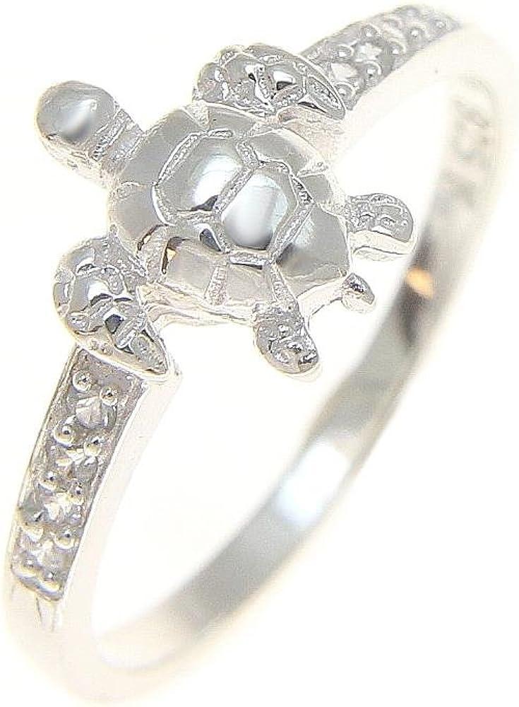 Arthur's Jewelry Sterling Silver Dedication 925 sea Turtle wi Hawaiian High order Ring