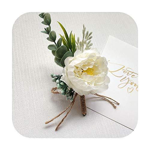Art Flower Boutonniere Pin Corsage Flowers Boutonniere Buttonhole Men Wedding Bracelet Bridesmaid Wedding Buttonhole Planner Corsage-J Corsage-