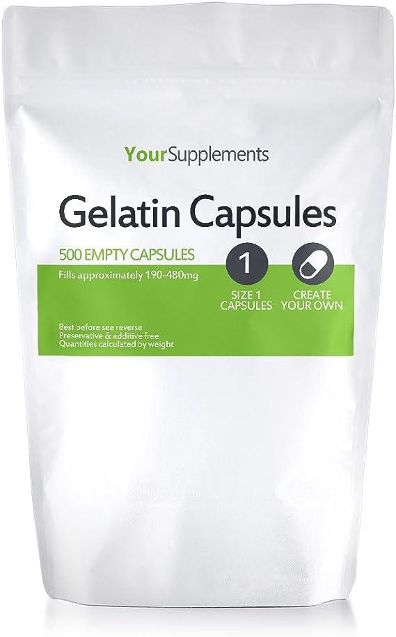 Your Supplements - Cápsulas de gelatina, Vacías, Tamaño
