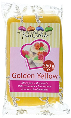 FunCakes mandelhaltige Zuckermasse Golden yellow, 1er Pack (1 x 250 g)