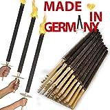 [page_title]-OutdoorBÄR - 50 Stück hochwertige Wachsfackeln mit Handschutzteller | Brenndauer 90 min - Made in Germany - Pechfackeln