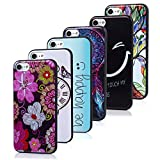 Badalink iPhone 8 Case, iPhone 7 Case - 6 Pcs Shock-Absorption Soft TPU Rubber Skin Bumper Case Transparent Crystal Clear Cute Colorful Print Patterns Ultra Thin Slim Protective Cover Group 11