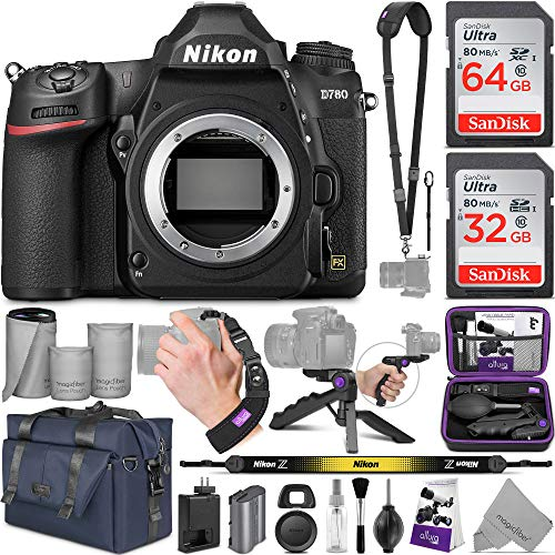 Nikon D780 DSLR Camera Body with Altura Photo Complete Accessory and Travel Bundle