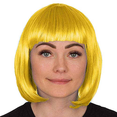 Redstar Fancy Dress - Damen Bob-Perücke - Kostüm Party Cosplay Accessoire - Gelb