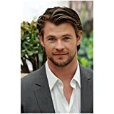 Chris Hemsworth 8x10 Photo Thor/Avengers Headshot Grey suit White shirt Nice Smile kn