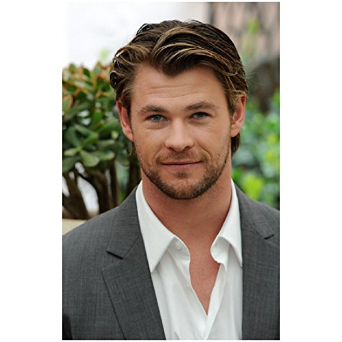 Chris Hemsworth 8x10 Photo Thor/Avengers Headshot Grey suit White shirt Nice Smile kn