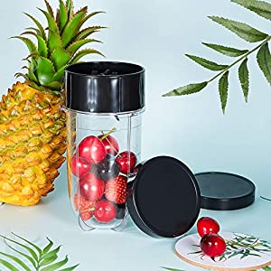 6 Pieces Black Plastic Keep Fresh Lid Parts Replacement Compatible with Magic Bullet 250W |
