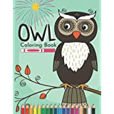 Owl Coloring Book: Funny Owl Coloring Book for kids boys and girls 4 - 13 yaers old