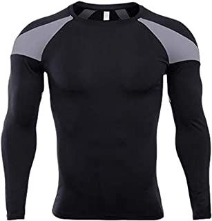 Men's Long Sleeve T-Shirt Cool Dry Compression Tops Sports Athletic Blouse