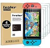 ivoler Pack de 4 Verre Trempé Compatible avec Nintendo Switch, Film Protection écran en Verre...