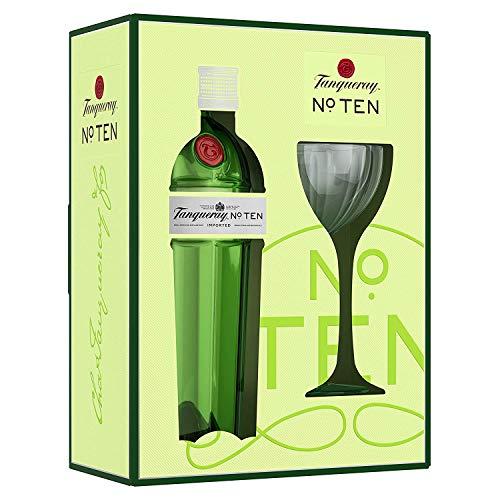 Tanqueray No Ten Ginebra inglesa + Estuche de regalo y copa - 700 ml
