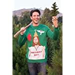 "Tipsy Elves Men's Ugly Christmas Sweater - Happy Birthday Jesus Sweater Green 11 ""****LAST CHANCE! Order Today and Save with our Lowest Priced Deals of the Holiday Season. While supplies last!****"" Tipsy Elves' ugly christmas sweaters are perfect for gifting to all of your friends but most importantly, yourself! Whether you're inside, outside, together or apart, or even stuck in a virtual meeting, whenever you rock your Tipsy Elves gear no one will ever doubt the ferocity of your festive fury. Tipsy Elves' hilariously ugly sweaters are a perfect gift this holiday season, why wait to share the love when you and your friends and family can make everyone laugh with one of our funny sweaters. Whether you're celebrating and matching in person or just catching up online, Tipsy Elves' hilarious holiday clothing will keep everyone looking cozy and warm!"