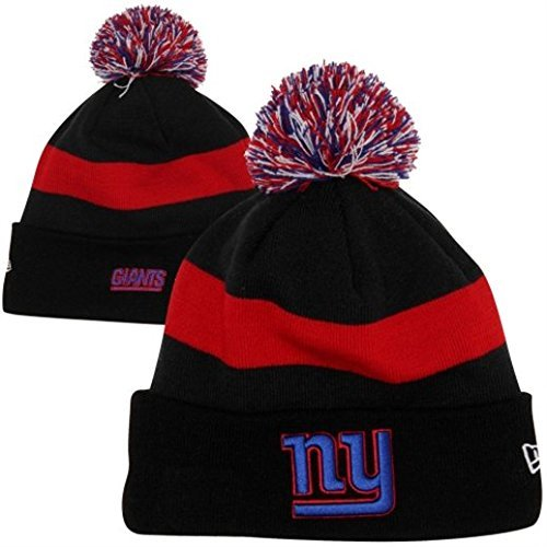 New Era NFL Licensed 2013 Stadium Sideline On Field Pom Beanie (New York  Giants Black 014cab129eb5