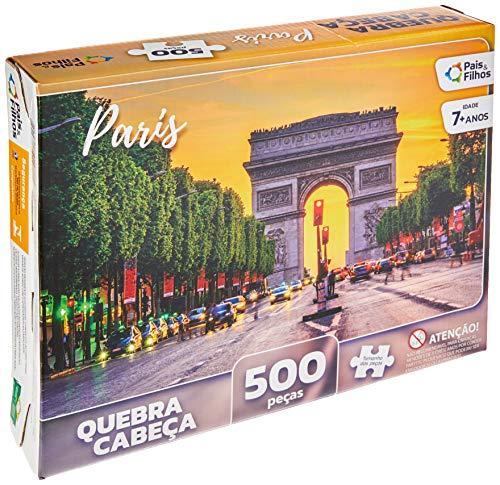 Pais E Filhos 2978, Quebra-Cabeça Cartonado Paris, 500 Peças