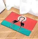OPLJ Tapis de Sol Flamingo imprimé Tapis de Salle de Bain Tapis de Toilette Tapis de Cuisine décoration de la Maison Salon Tapis de Porte A10 40x60 cm