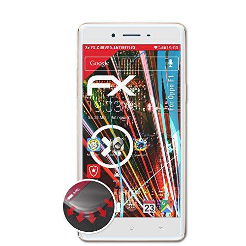 atFolix Schutzfolie kompatibel mit Oppo F1 Folie, entspiegelnde & Flexible FX Bildschirmschutzfolie (3X)