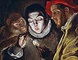 Kunstdruck/Poster: EL Greco AFFE Kerze anzündender Knabe