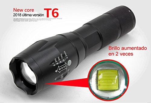 La elección de Amazon:2018X800 retráctil T6 LED linterna táctica linterna Súper Handheld mano portátil acampar senderismo auto-seguridad, caza, ciclismo,...