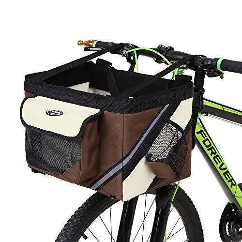 Lixada Bicicleta de Manillar Cesta, Bicicleta Caja Delantera Bolsa con Banda Reflectante,...