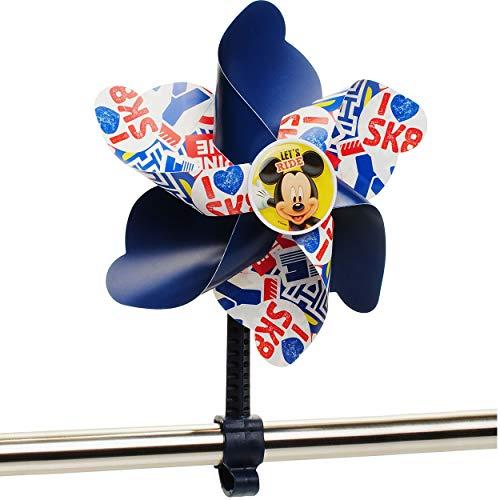 alles-meine.de GmbH kleines Windrad / z.B. als - Fahrradwindrad - Disney - Mickey Mouse - mit Befestigung für Lenker - Fahrrad Kinder - Mädchen Jungen - Fahrradwindmühle - unive..