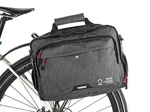 Two Wheel Gear Aktentasche - Wasserdicht Beschichtete - die Satteltasche & Laptop Tasche (grau)