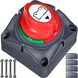 ZMYGOLON Batterie Trennschalter 12 V-24 V Akku Power Cut Off Schalter Akku trennen Master Schalter Hauptschalter für Marine Boot Caravan Kfz Fahrzeuge Motorrad Yacht Bus