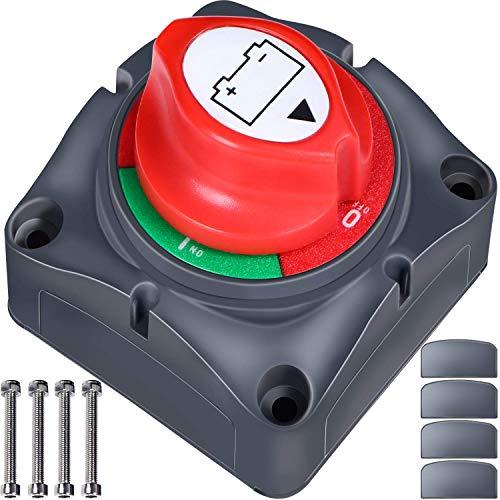 Master Switch Batería 12 V/24 V – Interruptor de corte de batería – batería aislador interruptor de desconexión de batería de coche Kill Switch accesorios para RV Yacht barco camión moto coche
