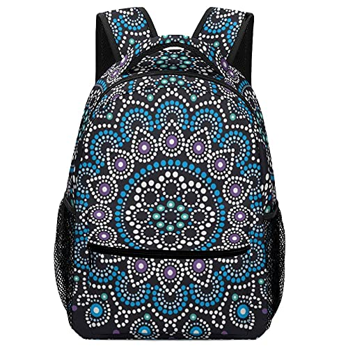 Mochila para niños pequeños, mochila escolar para niños, bolsa de transporte para niños, mandala con puntos azules