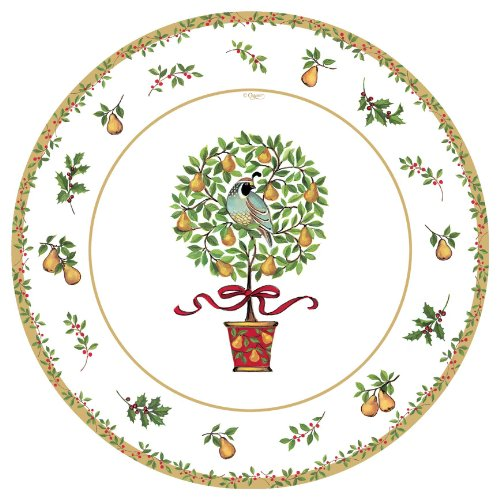 Entertaining with Caspari Set of 2 On The First Day Salad Plates, 16 Plates Total