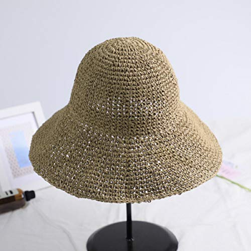 Gldgle Manuelle Häkelnadel Sonnenschirm Strohhut Kindermütze Thai Fischer Sandy Beach Hat Seaside On Vacation Sonnenhut Womens Sun Hats