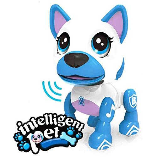 Liberty Imports Cachorro inteligente electrónico inteligente de bolsillo para mascotas perro interactivo – Robot perro juguete para niños con control de voz