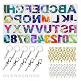 Alphabet Resin Molds Backward, Letter Number Silicone Molds for Resin, Epoxy Molds for Making Keychain Pendant Jewelry, DIY Sugar Cake Craft Casting Molds Set Kit