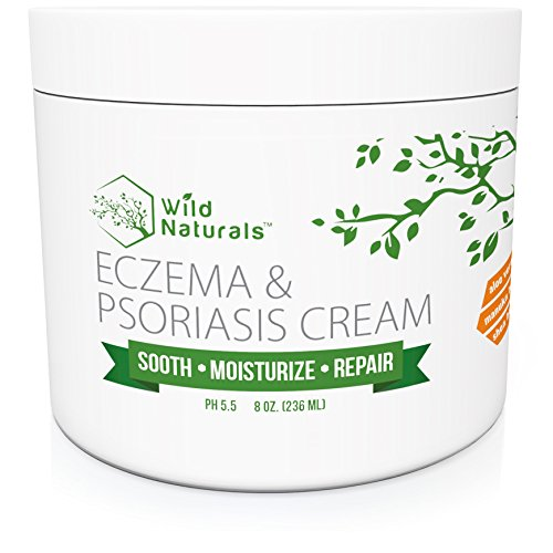 Wild Naturals Eczema & Psoriasis Cream, For Dry, Irritated Skin, Itch Relief, Dermatitis, Rosacea, and Shingles. Natural 15-in-1 Formula Promotes Healing and Calms Redness, Rash and Itching Fast