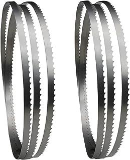 LIXHZJ Slipskivor 2 st 1425 mm bandsågblad, träbearbetningstillbehör, för 8-tums bandsåg sliphjul//12 (storlek: TPI 6)