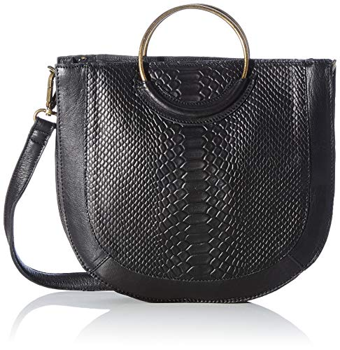 Pieces Damen PCSINA Leather Daily Bag FC Umhängetasche, Black, ONE Size