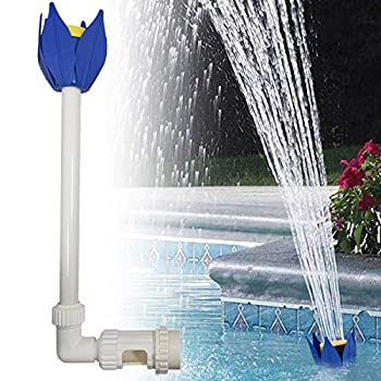 GKanMore Pool Fountain Jet Adjustable Waterfall Pool Fountain Spray Lotus Shape Pool Nozzle Sprinkler InGround and Above Ground Swimming Pool