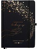 """Lebenskompass® Terminplaner A5 Undatiert """"STARGAZING"""" - Schöner Hardcover Kalender ohne Datum - Terminkalender mit Stifthalter, Froschtasche + Extras"""