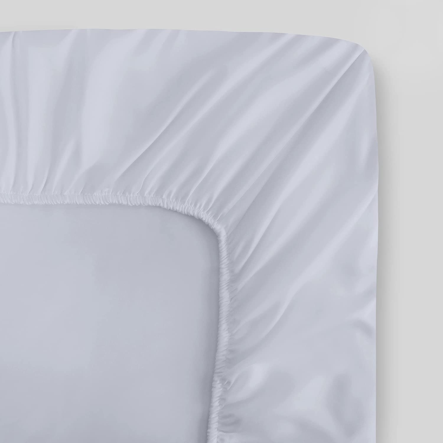 100% Denver Mall Organic Cotton King White Fitted Percale Sheet Daily bargain sale Weave 30